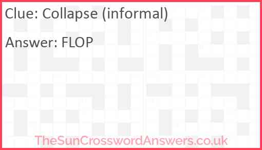 Collapse (informal) Answer