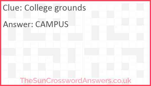 College grounds Answer