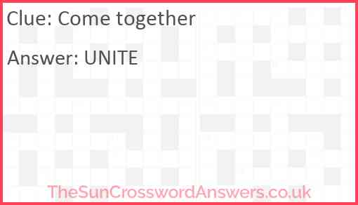 Come together Answer
