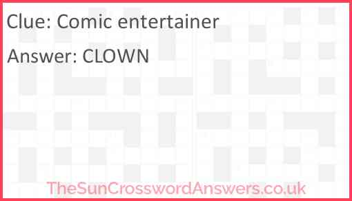 Comic entertainer Answer