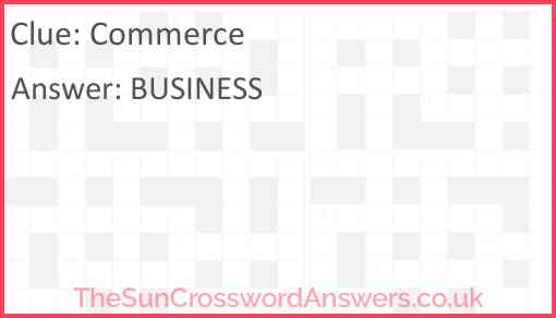 Commerce Answer