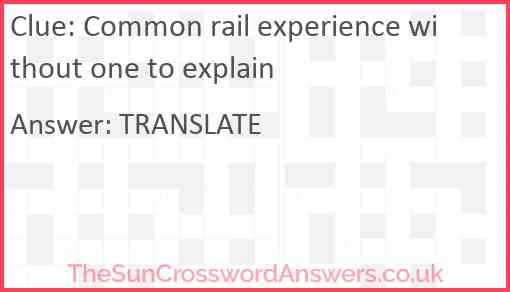 Common rail experience without one to explain Answer