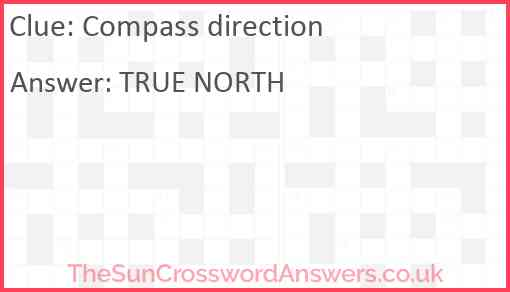 Compass direction Answer