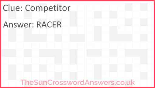 Competitor Answer