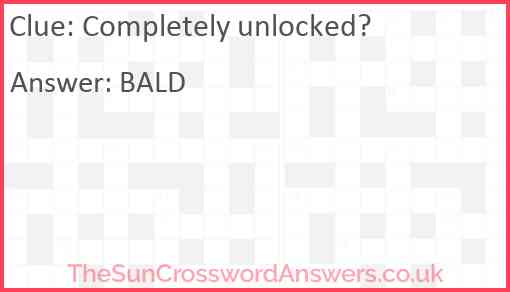 Completely unlocked? Answer