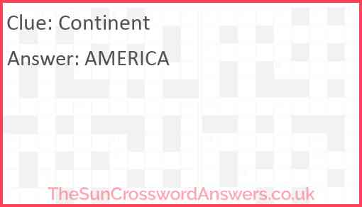 Continent Answer