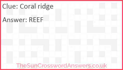 Coral ridge Answer