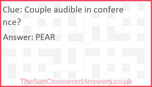 Couple audible in conference? Answer