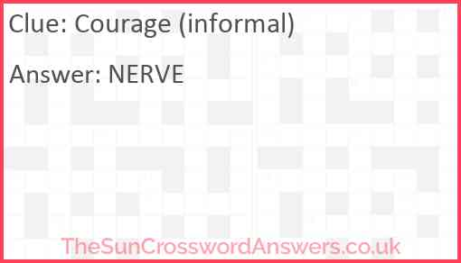Courage (informal) Answer