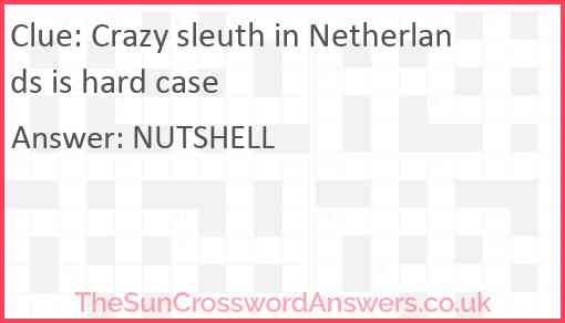 Crazy sleuth in Netherlands is hard case Answer