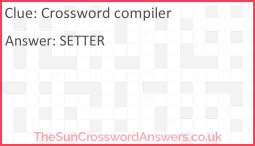 Crossword compiler Answer