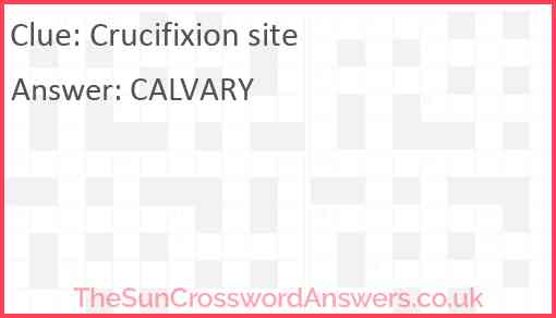Crucifixion site Answer