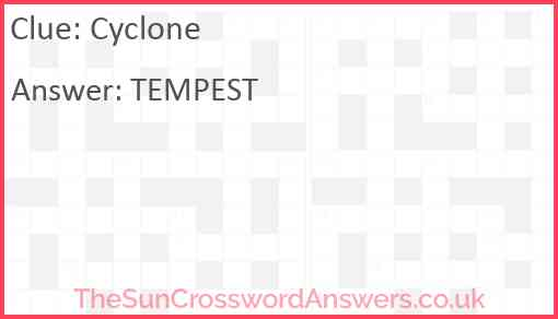 Cyclone Answer
