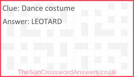 Dance costume Answer