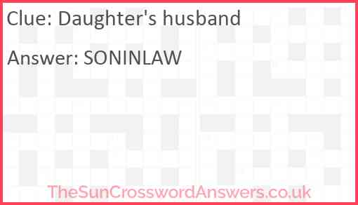 Daughter's husband Answer