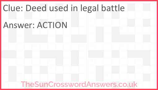 Deed used in legal battle Answer