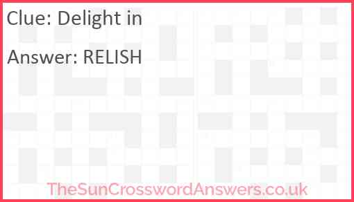Delight in Answer