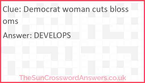Democrat woman cuts blossoms Answer