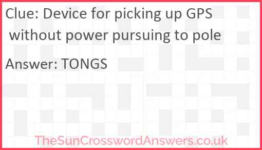 Device for picking up GPS without power pursuing to pole Answer
