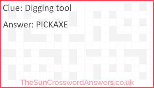 Digging tool Answer