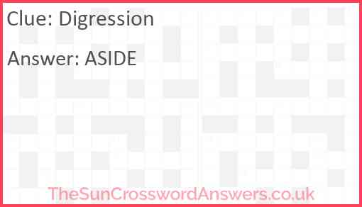 Digression Answer