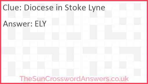 Diocese in Stoke Lyne Answer