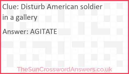 Disturb American soldier in a gallery Answer