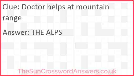 Doctor helps at mountain range Answer