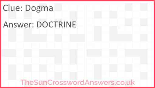 Dogma Answer