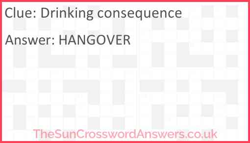 Drinking consequence Answer