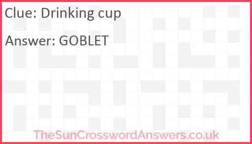 Drinking cup Answer