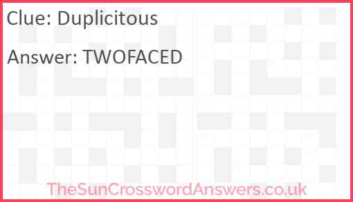 Duplicitous Answer