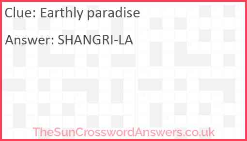Earthly paradise Answer