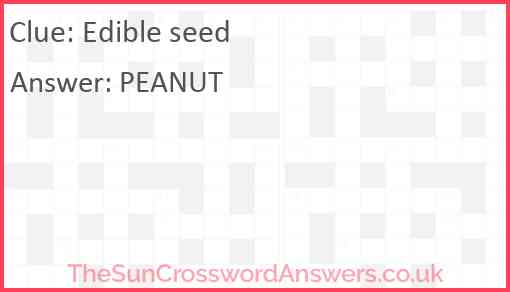 Edible seed Answer