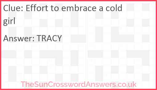 Effort to embrace a cold girl Answer
