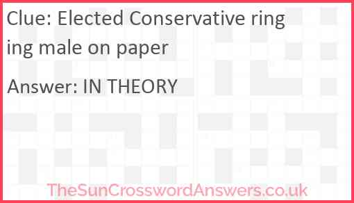 Elected Conservative ringing male on paper Answer