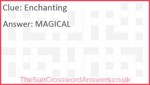 Enchanting Answer