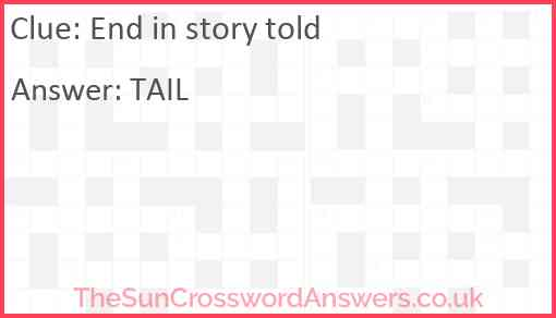 End in story told Answer