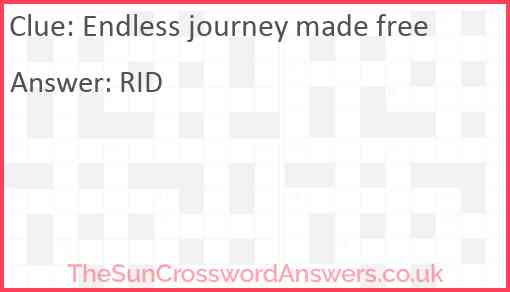 Endless journey made free Answer