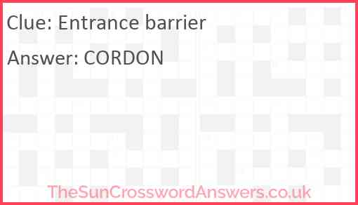 Entrance barrier Answer