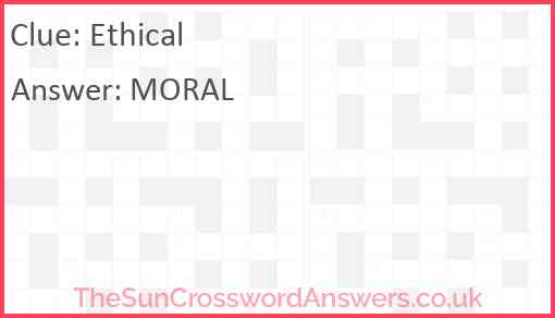 Ethical Answer
