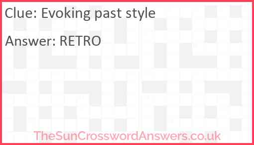 Evoking past style Answer