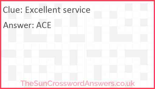 Excellent service Answer