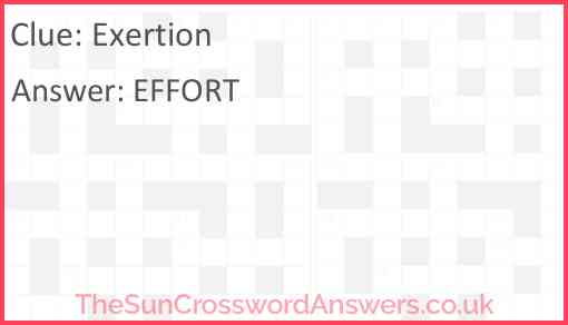 Exertion Answer