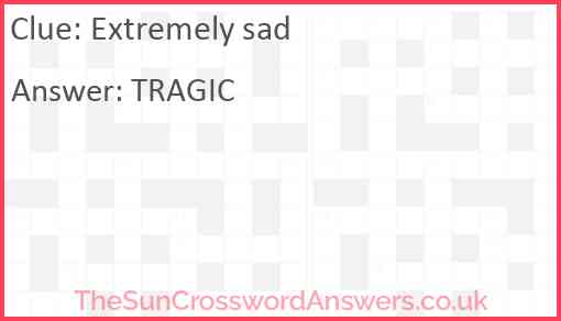 Extremely sad Answer