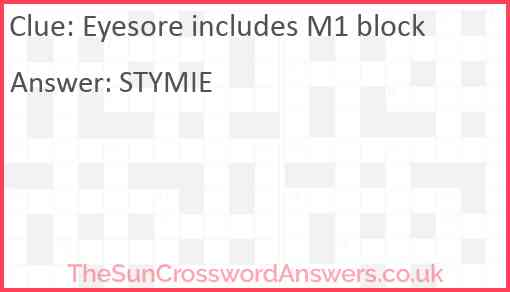 Eyesore includes M1 block Answer