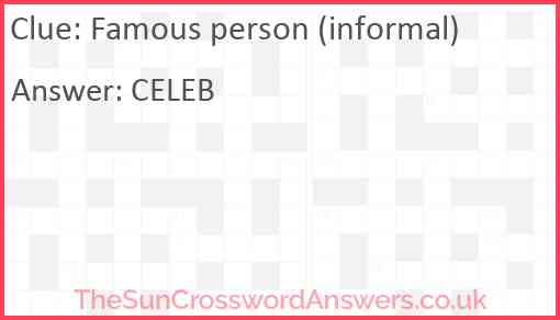 Famous person (informal) Answer