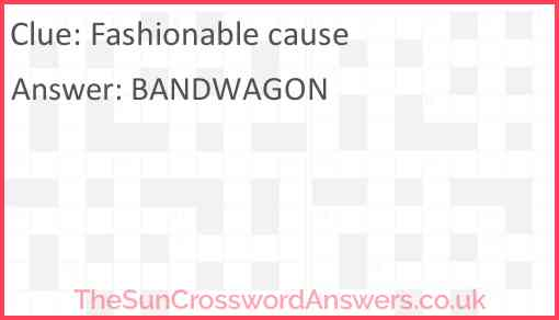 Fashionable cause Answer