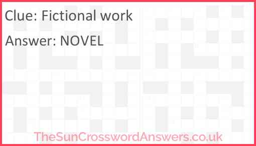 Fictional work Answer