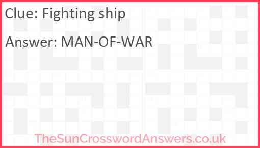 Fighting ship Answer